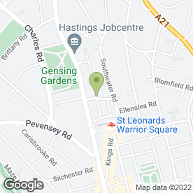 Map of GB Carpentry Services in St. Leonards-On-Sea, east sussex