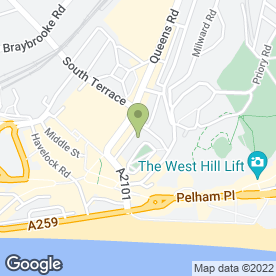 Map of Rileys Sports Bar in Hastings, east sussex