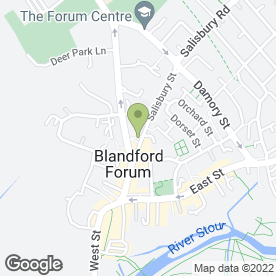 Map of Shaun's Hair Design in Blandford Forum, dorset
