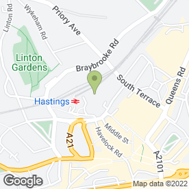 Map of Hastings Medical Practice & Walk In Centre in Hastings, east sussex
