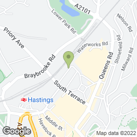 Map of THE EXHAUST & AUTO CENTRE in Hastings, east sussex