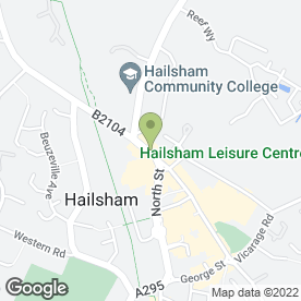 Map of The Beauty Hand & Foot Spa in Hailsham, east sussex