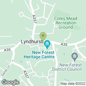 Map of A Stitch in Time in Lyndhurst, hampshire