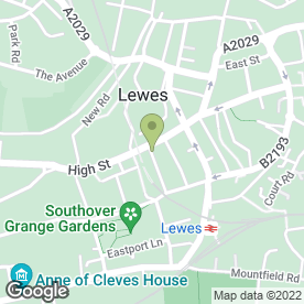 Map of Rowland Gorringe Estate Agents in Lewes, east sussex
