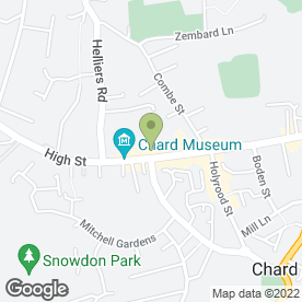 Map of Chough Hotel in Chard, somerset