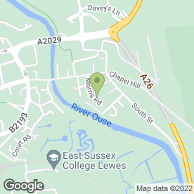 Map of G.F. SINCLAIR in Lewes, east sussex