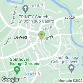 Map of School Hill Medical Practice in Lewes, east sussex