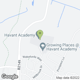 Map of Staunton Park Day Nursery in Havant, hampshire