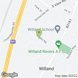 Map of Little Tree Trading in Willand, Cullompton, devon