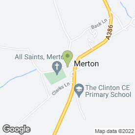 Map of Swan Tours in Merton, Okehampton, devon