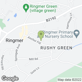 Map of Anchor Field Surgery in Ringmer, Lewes, east sussex