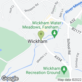 Map of Monkey Puzzle Day Nursery in Wickham, Fareham, hampshire
