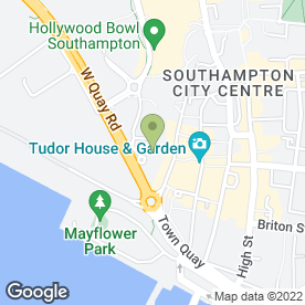 Map of Grand Habour Hotel in Southampton, hampshire