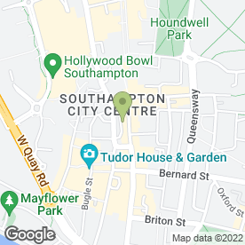 Map of Top Bathrooms Ltd in Southampton, hampshire