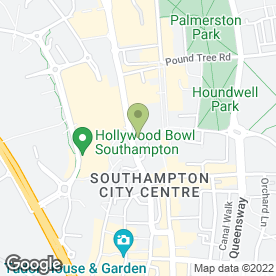 Map of Tamarillo Cafe in SOUTHAMPTON, hampshire