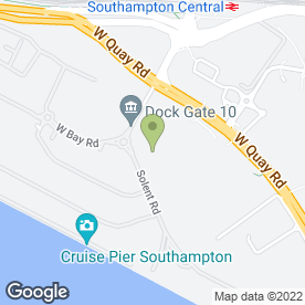 Map of Formula One Autocentres in Southampton, hampshire
