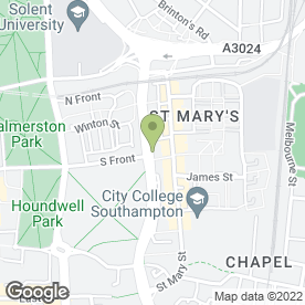 Map of St. Mary's Surgery in Southampton, hampshire