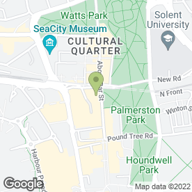 Map of Oswald Bailey Outdoor Experts in Southampton, hampshire