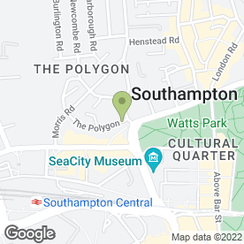 Map of CITY PARK GUEST HOUSE in Southampton, hampshire