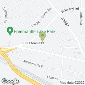 Map of Freemantle C of E Community Academy in Southampton, hampshire