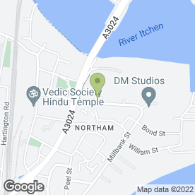 Map of Vision On (Technology) Ltd in Southampton, hampshire