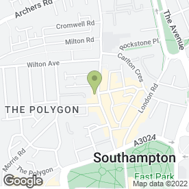 Map of Southampton Chiropody in Southampton, hampshire