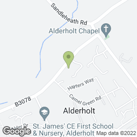 Map of Alderholt Pet Supplies in Alderholt, Fordingbridge, hampshire