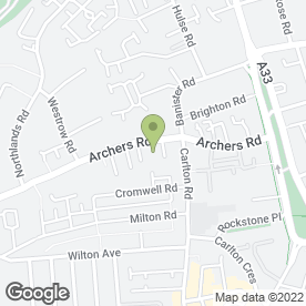 Map of Archers Road Club/Bar (Party Venue) in Southampton, hampshire