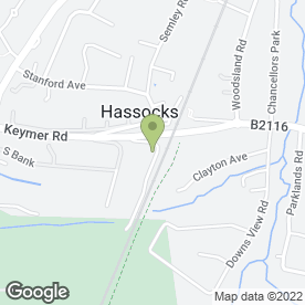 Map of Parker Building Supplies in Hassocks, west sussex