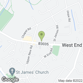 Map of GOSSIP HAIR, BEAUTY & NAILS in West End, Southampton, hampshire