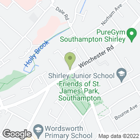 Map of St. James Park Rd Nursery in Southampton, hampshire