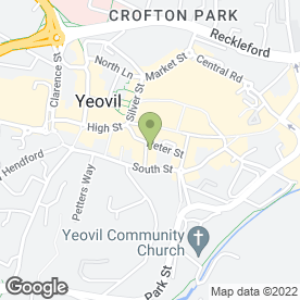 Map of F.J Tingay in Yeovil, somerset
