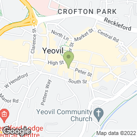 Map of The Green Room in Yeovil, somerset
