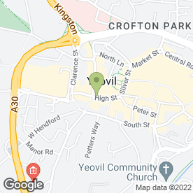 Map of The High Street Dental Practice in Yeovil, somerset