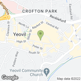 Map of David Ormerod Hearing Centres in Yeovil, somerset