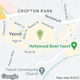 Map of NHS Yeovil Health Centre in Yeovil, somerset