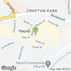 Map of Greggs in Yeovil, somerset