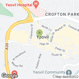 Map of Chants Estate Agents Ltd in Yeovil, somerset
