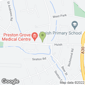 Map of Preston Grove Medical Centre in Yeovil, somerset