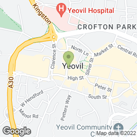 Map of Robert Frith Optometrists in Yeovil, somerset