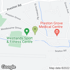 Map of Westland Leisure Complex in Yeovil, somerset