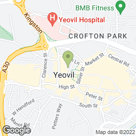 Map of Porter Dodson Solicitors & Advisors in Yeovil, somerset