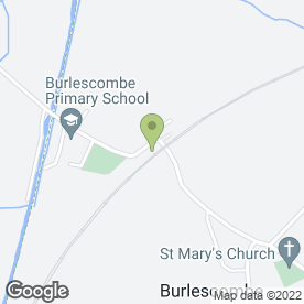 Map of Ayshford Arms in Burlescombe, Tiverton, devon