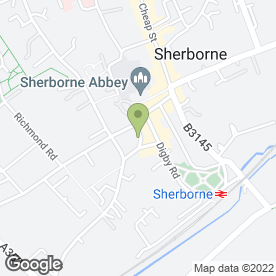 Map of The Abbey Friar in Sherborne, dorset