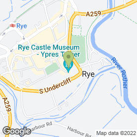 Map of Ypres Castle Inn in Rye, east sussex