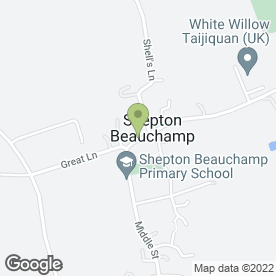 Map of The Hair & Beauty Lounge in Shepton Beauchamp, Ilminster, somerset