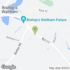 Map of W.H Travers in Bishops Waltham, Southampton, hampshire