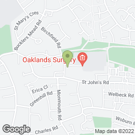 Map of Oaklands Surgery in Yeovil, somerset