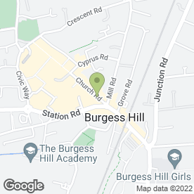 Map of Hunters Estate Agents in Burgess Hill, west sussex