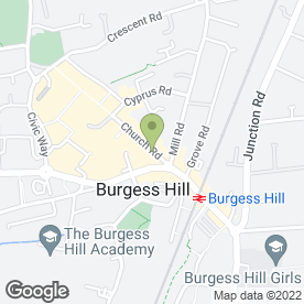 Map of Travail Employment Group in Burgess Hill, west sussex